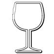 Wine Glass Stock Shape Magnet
