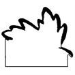 Leaf Stock Shape Magnet