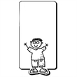 Boy with Rectangle Shape Magnet
