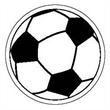 """Soccer Ball Shape Magnet - Soccer ball shaped magnet that measures 3"""" x 3"""" and is made in the USA of non-toxic, flexible material."""