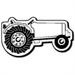 Tractor Stock Shape Magnet