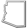 Arizona Stock Shape State Magnet