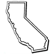 California Stock Shape State Magnet