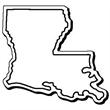 Louisiana Stock Shape State Magnet