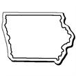 Iowa Stock Shape State Magnet