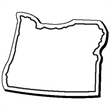 Oregon Stock Shape State Magnet