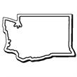 Washington Stock Shape State Magnet
