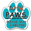 Paw Shape Magnetic Sign