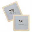 "35-40 point White Pulpboard Mat Coaster - Offset - White 40 pt. (1.0 millimeters) pulp board coaster, 3 1/2"". (Round or Square)"