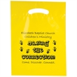 "Die Cut Fold-Over Reinforced Plastic Bag - Flexo Ink - Fold-Over Reinforced Plastic Die Cut Bags (9""x13"") - Flexo Ink"