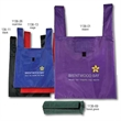 T-shirt style - T-shirt style. Roll this bag to easily store it inside a backpack or pocket. Velcro closure when rolled and opened.