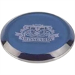 High End Blue Round Single Glass Coaster - Round shaped coaster crystal.