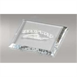 High End Clear Square Single Glass Coaster - High End Clear Square Single Glass Coaster.