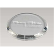 High End Round Clear Single Glass Coaster - High End Round Clear Single Glass Coaster.