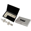 Stainless steel travel domino set - Stainless steel travel domino set, 28 dominos.