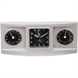3-dial weather station alarm clock - Three dial desktop weather station and alarm clock.