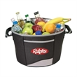 Deluxe tub cooler - Deluxe tub cooler made from polyester material with heavy vinyl backing.