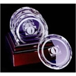 Deluxe Coaster Set with Etched Circle - Optical Crystal Deluxe Coaster Set with Etched Circle. Weight: 2.8.
