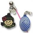 Cell phone charms - PVC bendable cell phone charms.