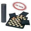 Chess, Checker, and Backgammon Roll-Up Board Set - Chess, Checker and Backgammon Set.
