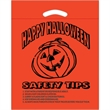 "Halloween Plastic Die Cut/Orange - Happy Halloween - Halloween Stock Design Orange Plastic Die Cut Bag - Happy Halloween (12""x15""x3"") - Flexo Ink"