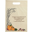 "Halloween Plastic Die Cut/Ivory - Autumn Harvest - Halloween Stock Design Ivory Plastic Die Cut Bag - Autumn Harvest (12""x15""x3"") - Flexo Ink"