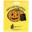"Halloween Plastic Die Cut/Yellow - Have a Safe Halloween - Halloween Stock Design Yellow Plastic Die Cut Bag - Have a Safe Halloween (12""x15"") - Flexo Ink"