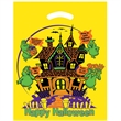 "Halloween Plastic Die Cut/Yellow - Haunted House - Halloween Stock Design Yellow Plastic Die Cut Bag - Haunted House (12""x15"") - Flexo Ink"
