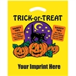 "Halloween Plastic Die Cut/Yellow - Trick-or-Treat - Halloween Stock Design Yellow Plastic Die Cut Bag - Trick-or-Treat (12""x15"") - Flexo Ink"