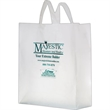 """Clear Frosted Soft Loop Shopper Bag w/ Insert - Flexo Ink - Clear Frosted Soft Loop Plastic Shopping Bags with Insert (16""""x6""""x18"""") - Flexo Ink"""