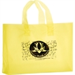 """Color Frosted Soft Loop Shopper Bag with Insert - Foil Stamp - Color Frosted Soft Loop Plastic Shopping Bags with Insert (13""""x4""""x10"""") - Foil Stamp"""