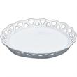 Round openwork coaster candy dish - White vitrified porcelain round openwork coaster.