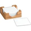 Coaster set - Six square coaster set with wood holder.