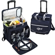 Picnic Cooler for Four on Wheels - Picnic cooler on wheels, equipped for four.