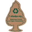 Corrugated Cardboard Magnet - Brown corrugated cardboard tree shaped magnet with full magnetic backing.
