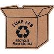 Corrugated Open Box Magnet - Brown corrugated cardboard open box shaped magnet with full magnetic backing.