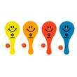 """5"""" X 2"""" Smiley Face Translucent Paddle Ball Game - 5"""" X 2"""" Smiley Face Translucent Paddle Ball Game"""