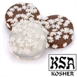 Snowflake Sprinkles Chocolate Dipped & Decorated Oreos® - Snowflake sprinkles chocolate dipped and decorated oreos individually wrapped.