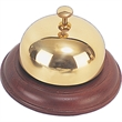 Bell - Brass cowbell with wood base.
