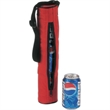 Cooler - Nylon 3 pack tube cooler with one main zipper.