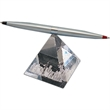Helicopter pen with crystal base - Unique crystal pyramid with satin chrome pen on its tip.