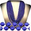 "Mardi Gras Beads - Metallic Blue - 7mm  33"" - Metallic blue 33"" Mardi Gras beads."