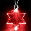 Light Up Necklace - Acrylic Star of David Pendant - Red Light up necklace with acrylic Star of David pendant. Blank.