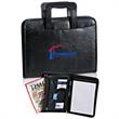 Retractable Handle Padfolio - PU leather retractable handle padfolio.