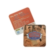 "Heavy White Pulpboard Mat Coaster - Offset - White 80 pt. (2.0 millimeters) pulp board coaster, 3 1/2""."