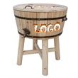 Wood Barrel - Wooden barrel ice cooler. Great for wine, beer, or alcohol.
