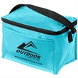 Insulated 6 Pack Cooler - 6-pack insulated cooler made with open cell foam, front pocket and adjustable mesh strap.