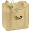 "12 X 12 X 8 Standard Grocery Tote - 12"" x 12"" grocery tote made of 100% recyclable, non-woven polypropylene with 16 1/2"" straps and 8"" gusset."