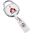 """Carabiner Retractable - Badge holder with 29"""" retractable nylon cord and carabiner."""