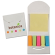 Flip Open Post A Note & Flag Set - Stationery set that features 5 colorful sets of flag notes (25 each) and 25 yellow sticky notes.